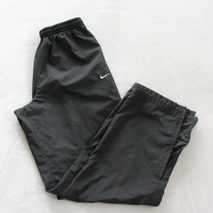 Mens Nike Black Windbreaker Pants Size L Athletic